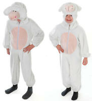 Childrens White Sheep Fancy Dress Costume Outfit Kids Childs Nativity Play M