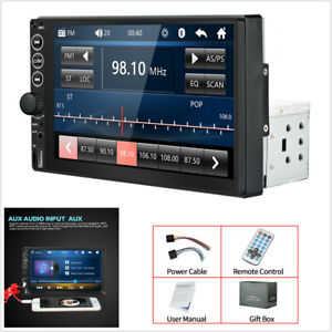 Single 1DIN 7in Car Stereo Radio MP5 Player Touch Screen Bluetooth USB TF FM AUX