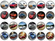 24 cake topper hypercars super cars ferarri car bun fairy cupcake toppers party