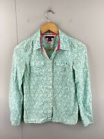 Tommy Hilfiger Women's Long Sleeve Button Shirt Size XS Green White Floral