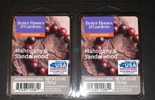 2  BETTER HOMES & GARDENS Wax Melts MAHOGANY & SANDALWOOD / 2.5 Oz Each