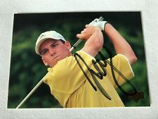 SERGIO GARCIA AUTOGRAPHED UPPER DECK CARD OBTAINED IN PERSON W/ PHOT0