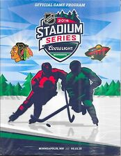 2016 Chicago BLACKHAWKS Stadium Series Official Game PROGAM NHL Hockey vs. WILD