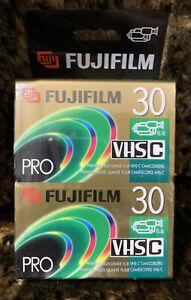 """Fuji Film Pro"" VHS-C TC-30 Blank Premium High Grade Camcorder Tape (2 Pack)"