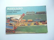 ☺ Ancien Catalogue Meccano Trains Hornby Dinky Toys 1959