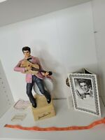Vtg Elvis 55 Large McCormick Whiskey Decanter Music Box Statue Rare Paperwork