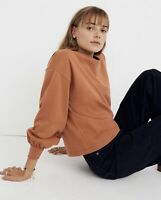 NWT Madewell Chord Long Bubble-Sleeve Top M