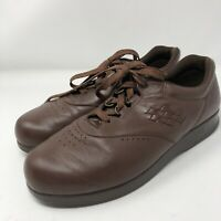 SAS Womens Size 10M Tripad Comfort Brown Leather Lace-Up Shoes M Soft Step