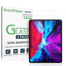 """iPad Pro 12.9"""" (2020 / 2018) amFilm Tempered Glass Screen Protector (2 Pack)"""