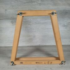 New listing Vintage Wood Tennis Racquet Frame Holder Press w Wing Nuts Wooden