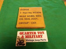 Dodge WC M37 Military NOS rear axle outer seal 100% original (S16)