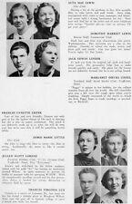1938 Washington DC Wilson High School Yearbook~Photos~HIstory~Baseball~Ads~++++