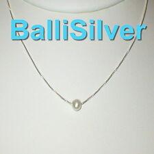 + White Potato Freshwater Pearls 5 St Silver Box Chains