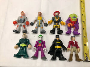 Nice Lot of 8 Fisher Price Imaginext w/ DC Batman & Joker Action Figures
