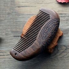 Vintage Pocket Comb Wooden Comb Sandalwood Narrow Tooth NoStatic Lice Beard JIA