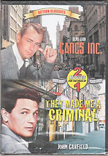 Action Classic Gangs Inc./They made Me A Criminal 2 Movie Dvd New john carfield