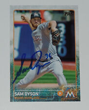 SAM DYSON SIGNED AUTO'D 2015 TOPPS CARD #US40 MIAMI MARLINS TEXAS RANGERS