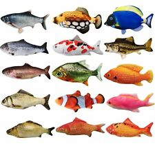 Pet Cat Motorised Catnip Play Simulated Fishes Kitty Chew Electronic Teaser Toys