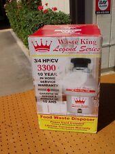 WASTE KING LEGEND SERIES 3300 GARBAGE FOOD WASTE DISPOSAL 3/4 HP BRAND NEW NIB