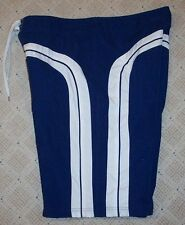 Mens SPEEDO Board Shorts - NAVY BLUE & WHITE - Surf Swim Trunks 38-40 XL