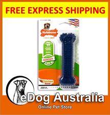 Nylabone Puppy Chew Teething Soft Bone Chicken Flavoured Dog Toy Petite Blue New