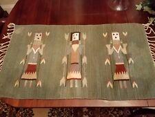 Vintage Hand-woven Yei Corn Maiden Rug/Wall Hanging