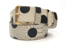 Marc By Marc Jacobs Snake Skin Pattern Leather Belt Sz XS/S 3501