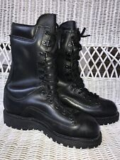 Matterhorn 1950 Women's Black Leather Work Combat Motor Boots Size 6.5 M Vibram