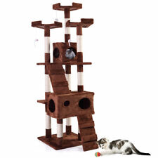 """New listing 67"""" Cat Tree Pet Scratching Post Tower Condo Furniture Kitty Play House Coffee"""