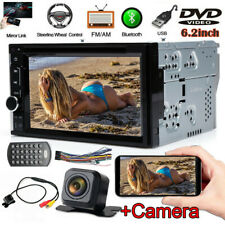 Sony Lens 6.2'' Car 2 Din Stereo Radio CD DVD Player Bluetooth Touch Rear Camera