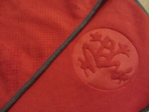 MANDUKA eQua Hold Yoga Mat Towel EC Dark Orange Hot Yoga Vinyasa Travel $38