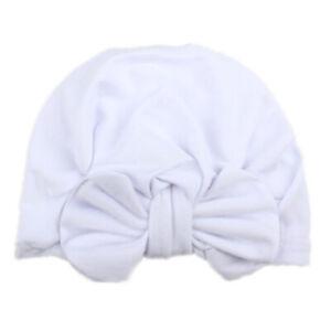 Newborn Toddler Kids Cotton Hats Boy Girl Bow Knot Turban Beanie Caps Head Wrap