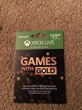 Xbox Live 12 month Gold membership prepaid card for xbox one or xbox 360