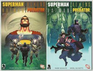 Superman & Batman VS. Aliens & Predator 2 Comic Set - Nice Condition