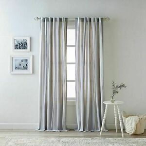 Bee & Willow™ Home Quincy 84Inch Rod Pocket/Back TaB Curtain 2 Panels PAIR Gray