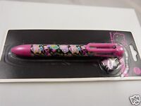Hello Kitty multi ink pen peace vinyl charm blue black green purple red ink