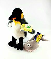 RARE 2010 BUILD A BEAR Workshop ST. LOUIS ZOO PLUSH King Penguin Shark Hat NEW