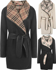 Women's Plaids Checks Polyester Coats & Jackets