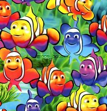 BTHY Under the Sea Brite Fish Clownfish Cotton Fabric By 1/2 Yard Timeless