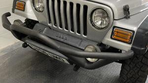 Jeep Wrangler TJ Rock Crawler Front Tubular Bumper With Lights Rugged Ridge