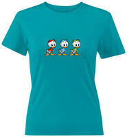 Juniors Girl Women Tee T-Shirt Gift Huey Dewey and Louie Duck Disney DuckTales