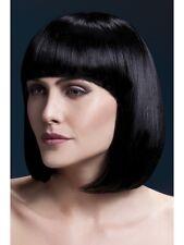 "Fever Elise Wig 13"" Black Short Bob Wig Ladies Deluxe Fancy Dress Wig"