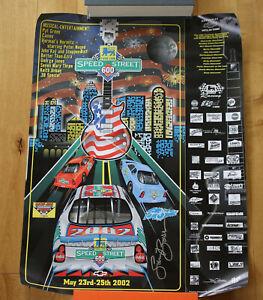 "Food Lion Speed Street Charlotte NASCAR 2002 Sam Bass SIGNED   Poster 18""x24"""