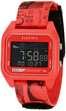 Electric Men's ED01 Tide Nylon Band Digital Display Quartz Twin Fin Red Watch