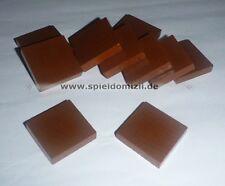 10 QUADRATE Rechtecke * HOLZ SPIELSTEINE * Bastelmaterial * braun ~ 27 mm² * NEU