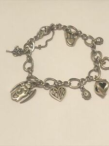 James Avery 925 Charm Bracelet With 8 Retired James Avery Charms