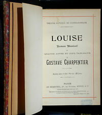 Partition / Score Charpentier Louise piano & chant Heugel 1900 TBE