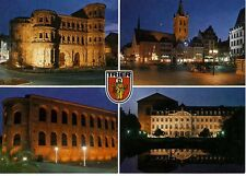 Postkarte Trier Fotokunst Schwalbe: M7 Porta Nigra, Konstantin-Basilika, Palais