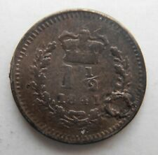 More details for 1841 silver three halfpence. has been holed and plugged