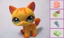 Littlest Pet Shop Striped Orange WALKING CAT #1137 +1 FREE Access.100% Authentic